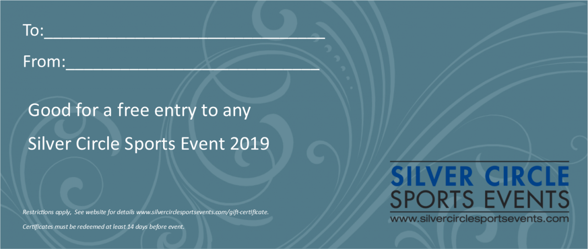 Gift Certificate Silver Circle Sports Events